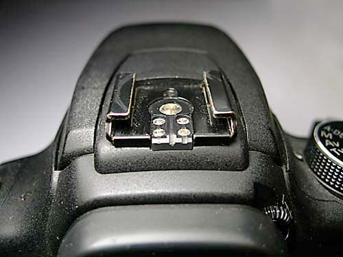 External or off-camera flashes are synced to the shutter release via a