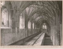 Frederick_Evans-Gloucester_Cathedral.Cloisters,Interior_of_Lavatorium