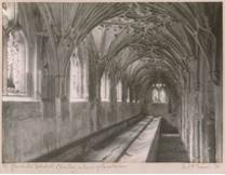 Frederick_Evans-Gloucester_Cathedral.Cloisters,Interior_of_Lavatorium