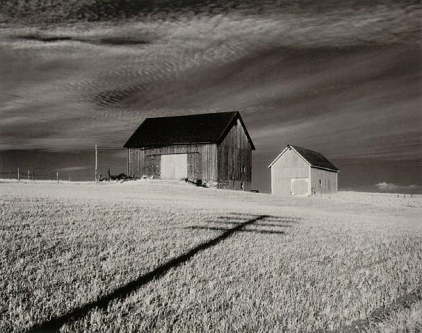Minor_White_Two_Barns_and_Shadow