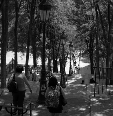 Oscar's image today of Escalier de la Butte Montmatre